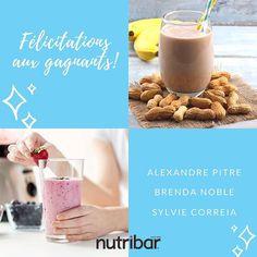 Félicitations aux gagnants! Triste que ce soit terminé? Ne vous en faites pas! Restez à l'affût des dernières nouvelles et mises à jour pour obtenir les bons d'achat et aubaines à venir sur notre gamme de produits @nutribar_canada! #Nutribar #ShakeItUp #Nutribar2Go Shake It Up, Giveaways, Glass Of Milk, Canada, Drinks, Instagram, Food, Late Breaking News, Lineup