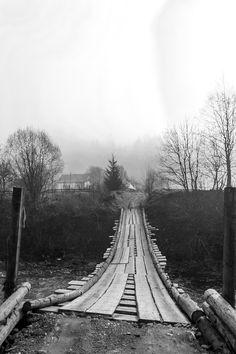 Unique wood bridge in Transcarpathia by Beniamin Sabo on Wood Bridge, Railroad Tracks, Explore, Unique, Train Tracks, Exploring