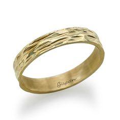 14K White/Yellow/Rose Wedding Ring With Gold by gispandiamonds, $270.00