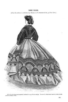 Robe Dress, Godey's Lady's Book, December 1864   Flickr - Photo Sharing!