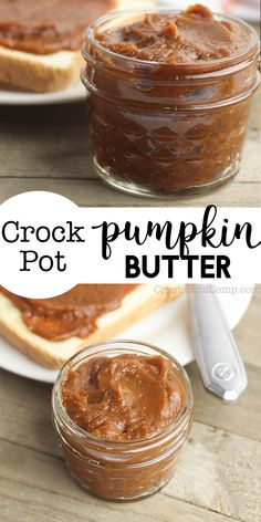 I love apple butter, so I figured out how to make easy Crockpot Pumpkin Butter and I was not disappointed. It's the perfect spread, smother or marinade for all things fall. Gluten Free Pumpkin Pie, Pumpkin Butter, Pumpkin Spice, Crock Pot Desserts, Pumpkin Dessert, Butter Recipe, Fall Recipes, Pumpkin Recipes, Holiday Recipes