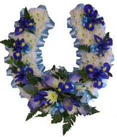 Based Horseshoe - #floral #flowers #moonstones #ltd #fareham #florist #sympathy #tribute #horseshoe