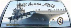 US Navy USS America LHA6 Amphibious Assault Ship custom rear window graphic mural