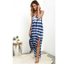 Lost Coastlines Blue Tie-Dye Maxi Dress | Shop @ CollectiveStyles.com