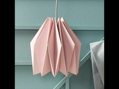 How to Fold a Lampshade Mason Jar Chandelier, Diy Chandelier, Mason Jar Lighting, Origami Lampshade, Paper Lampshade, Lamp Design, Diy Design, Diy Paper, Paper Crafts
