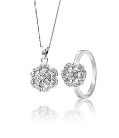 Silver and Cubic Zirconia Pendant and Ring *Prices Valid Until 25 Dec 2013 Gold Jewelry, Fine Jewelry, Diamond Are A Girls Best Friend, Silver Rings, Pendant, Bracelets, Earrings, Christmas, Life