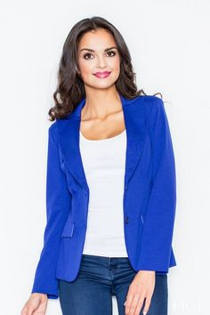 Women's Blazer in shades of blue with a fitting cut