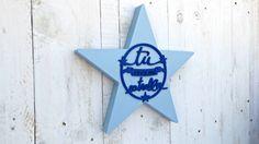 Estrella pintada AZUL por SmileAndWood en Etsy