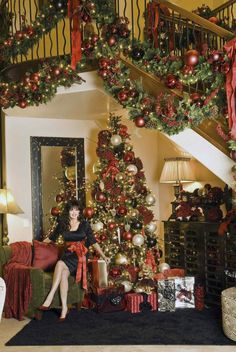 Marie Osmond at home celebrating Christmas Christmas Staircase, Christmas Past, Christmas Holidays, Christmas Stars, Celebrating Christmas, Donny Osmond, Marie Osmond, Holiday Photos, Christmas Pictures