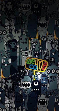 Graffiti Wallpaper Iphone, Retina Wallpaper, Crazy Wallpaper, Iphone 6 Plus Wallpaper, Wallpaper Samsung, Wallpaper Keren, Trendy Wallpaper, Apple Wallpaper, Dark Wallpaper