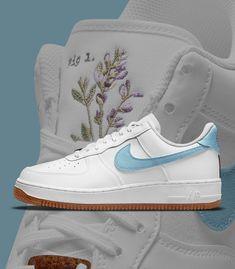 "Sneaker News on Twitter: ""Which Nike Air Force 1 ""Indigo"" do you prefer - Left or Right?… "" Sneakers Fashion, Sneakers Nike, Aesthetic Shoes, Fresh Kicks, Dream Closets, Blue Life, Jordan 3, Nike Cortez, Nike Sb"