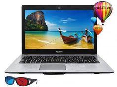 "Notebook Positivo Stilo XRI2950 Intel Dual Core - 2GB 32GB Flash LCD 14"" 3D Linux"