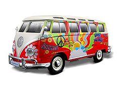 VW Samba Van Hippie Version Diecast Model by Maisto 32301R