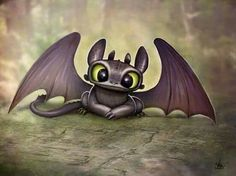 Uploaded by Find images and videos about cute, dragon and toothless on We Heart It - the app to get lost in what you love. Baby Toothless, Toothless And Stitch, Toothless Dragon, Toothless Tattoo, How To Train Your, How Train Your Dragon, Cute Disney, Disney Art, Disney Drawings