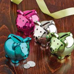 Adorable and practical, our Disco Piggy Bank is the fun way for kids to learn the value of saving and for adults to consolidate their pocket change.