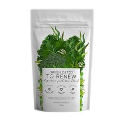GREEN DETOX - TO RENEW by Unique Muscle is a super healthy, super greens blend designed to have you feeling energised and revitalised, a brand new you! Helping with any digestive problems and improving overall gut health! Wheatgrass Powder, Barley Grass, Pantothenic Acid, Green Powder, Super Greens, Wheat Grass, Green Life, How To Increase Energy, Detox Drinks