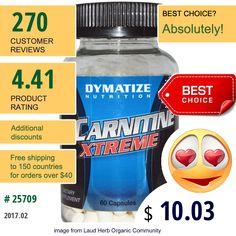 Dymatize Nutrition #DymatizeNutrition #AminoAcids #LCarnitine