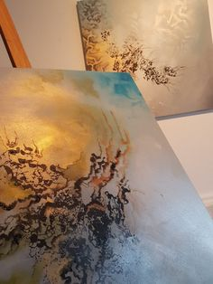 Sabrina Tanase painting Work place Pour Painting, Art Abstrait, Paintings, Abstract, Summary, Paint, Painting Art, Painting, Portrait