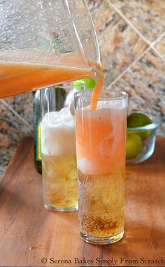 Agave Peach Moscow Mule Mocktails | Serena Bakes Simply From Scratch