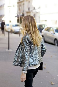 Sequinned jacket.