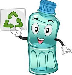 Ilustraci�n de la mascota de una botella de pl�stico promover la importancia del reciclaje Environmental Education, Kids Education, Recycling Of Waste Material, Save Water Save Life, Pencil Drawings Of Nature, Printable Border, Recycling For Kids, World Environment Day, Illustrator Tutorials