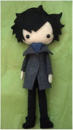 Sherlock OR John Watson Tall Plush Doll by WordsToSewBy on Etsy,