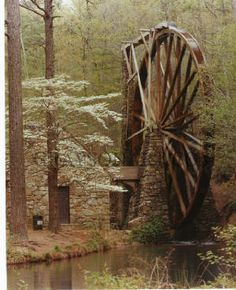 Old Waterwheel at Berry College in Rome