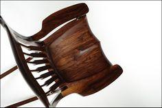 Rocking chair inspired by Sam Maloof Woodworking Blueprints, Woodworking As A Hobby, Woodworking Plans, Wood Furniture, Furniture Design, Modern Furniture, Craftsman Style Furniture, Sam Maloof, Art And Technology