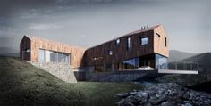 Ledge house. Poland