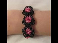 Rainbow Loom GODDESS Bracelet. Designed and loomed by Claire's Wears. Click photo for YouTube tutorial. 03/05/14.