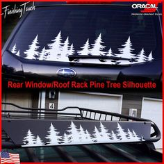 This unique custom made pine tree forest decal is cut from exterior grade 651 Oracal Vinyl on a professional plotter, this decal will stick great to any clean and smooth surface, Vehicle rear or side window. Vinyl decals can be installed in just 3 or 4 minutes and look great on