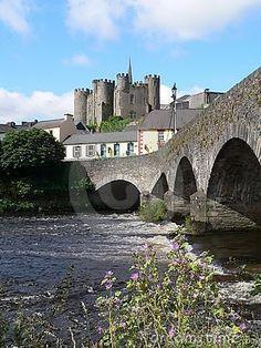 13th century Enniscorthy Castle on the river Slaney, Co. Wexford, Ireland.52.502064,-6.565876