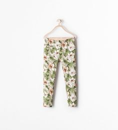 Image 1 of PRINTED LEGGING TROUSERS WITH POCKET from Zara