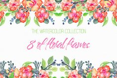 Watercolor wildflowers Graphics The package includes: JPG file size of floral pattern of different colors. PSD** by Spasibenko Art Watercolor Poppies, Watercolor Feather, Watercolor Sketch, Watercolor Animals, Watercolor Illustration, Bright Flowers, Wild Flowers, Page Decoration, Decorations