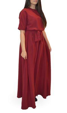 Burgundy Maxi Modest Maxi Dress, Modest Outfits, Maxi Dresses, Burgundy Maxi Dress, Bridesmaid Dresses, Wedding Dresses, Everyday Fashion, Wrap Dress, Kimono