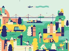 Here's a crop from our illustration for Kellogg Magazine about how companies should engage with the public
