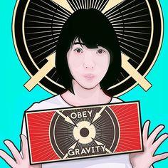 g = GM/r2  Obey Gravity #vector #coreldraw #photoshop #aviary #堀未央奈 #nogizaka46 #vectorart