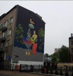 Lublin, mural miejski stworzony przez artystów z Polski i Ukrainy. Fot. Bloglublin