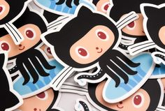 Custom die cut stickers for Github.