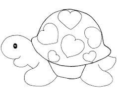 Desenho de animal de colorir (Foto: Divulgação) Applique Templates, Applique Patterns, Applique Designs, Quilt Patterns, Animal Coloring Pages, Coloring Pages For Kids, Coloring Sheets, Coloring Books, Doodle Drawings