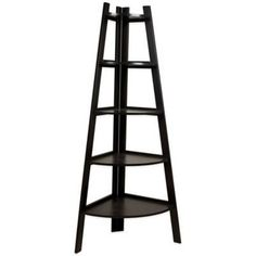 product image for Wood Tiered Corner Ladder Bookcase Display in Espresso