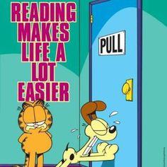 Trudno nie zgodzić się z Garfieldem. Jednak z drugiej strony… komu często zdarza się podobny problem? :)