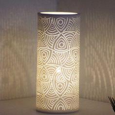 Amazing Lampe cylindrique en porcelaine Mandala http symphoniedeco fr luminaires