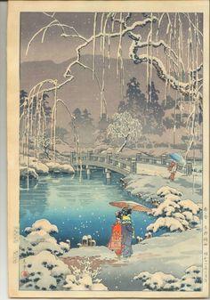 Tsuchiya Koitsu Woodblock Print - Maruyama Park. WANT!