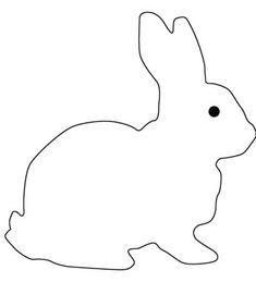 Ostern on pinterest basteln dekoration and rabbit for Hase malvorlage