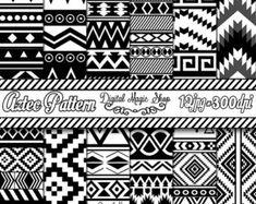Arrows Digital Paper Ethnic Seamless Pattern  12pcs 300dpi