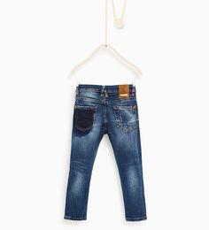 Image 2 de Jean avec taille à chevrons de Zara