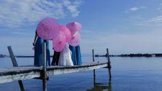 Kin Mei + Michael - Bridesmaids in the Sakura Maxi Convertible Dresses in Deep Teal Perfect Wedding, Dream Wedding, Pink Umbrella, Deep Teal, Toronto Wedding, A Perfect Day, Wedding Videos, Bright Pink, Romantic