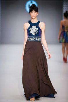 CENTRAL EUROPEAN SHOWS / BUDAPEST / JANA GAVALCOVA / TRUE BLUE Indigo, Budapest, Skirts, Folk, Blue, Fashion, Moda, Popular, La Mode