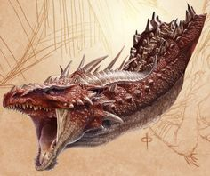 Dragon WIP 2 by ChrisRa.deviantart.com #dragon #art #digital #painting #creature